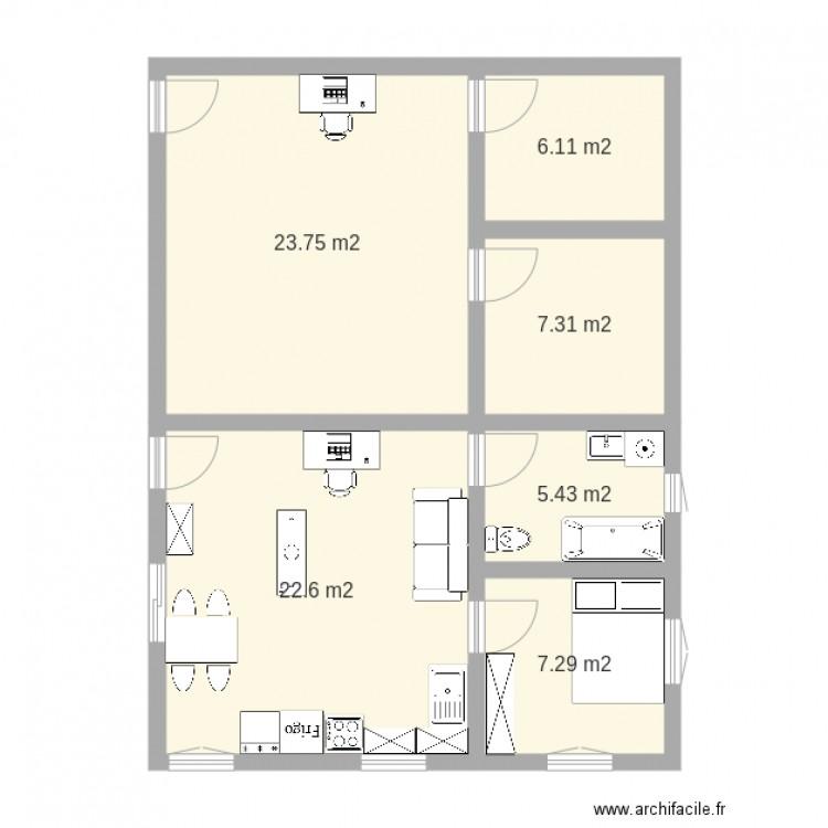 Appartement Pour 233 Tudiant Une Chambre Sans Circuit Plan