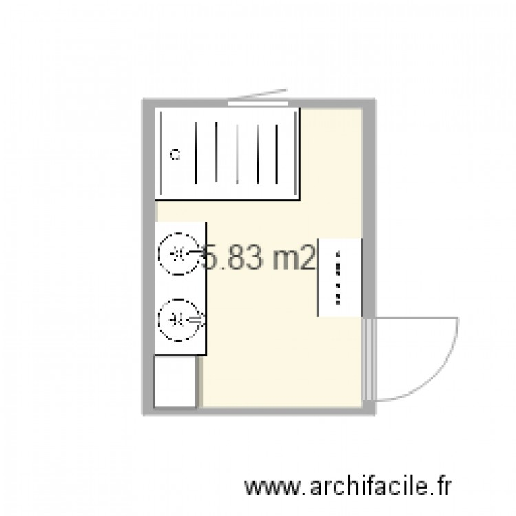 salle de bain 1 plan 1 pi ce 6 m2 dessin par hog. Black Bedroom Furniture Sets. Home Design Ideas