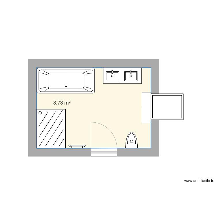 Plan Salle De Bain Plan 1 Pièce 9 M2 Dessiné Par Anouch57