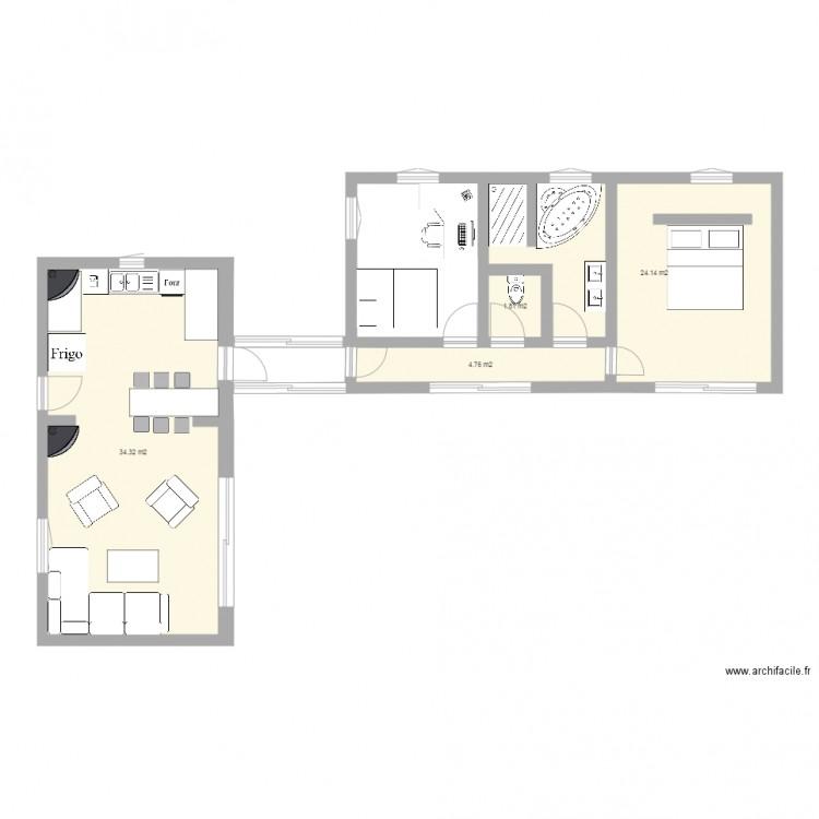 plan maison en 2 parties
