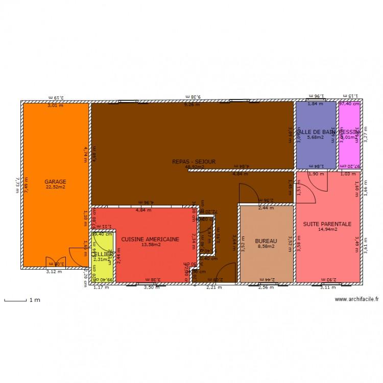 Maison à étage 6 Chambres Avec Garage Plan 9 Pièces 111 M2 Dessiné