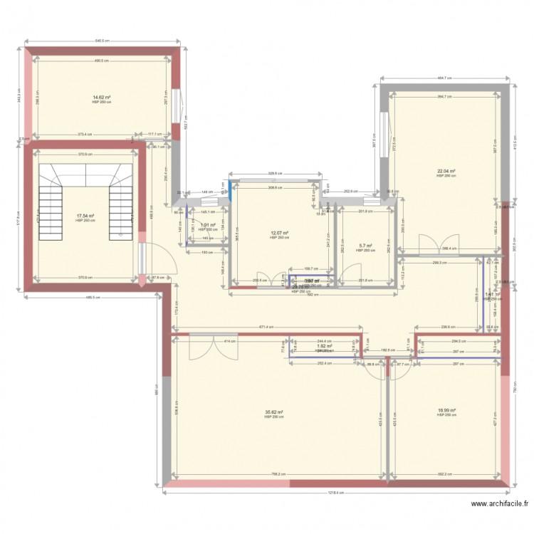 Maison plan 12 pi ces 162 m2 dessin par zakzak23 for 162 plan