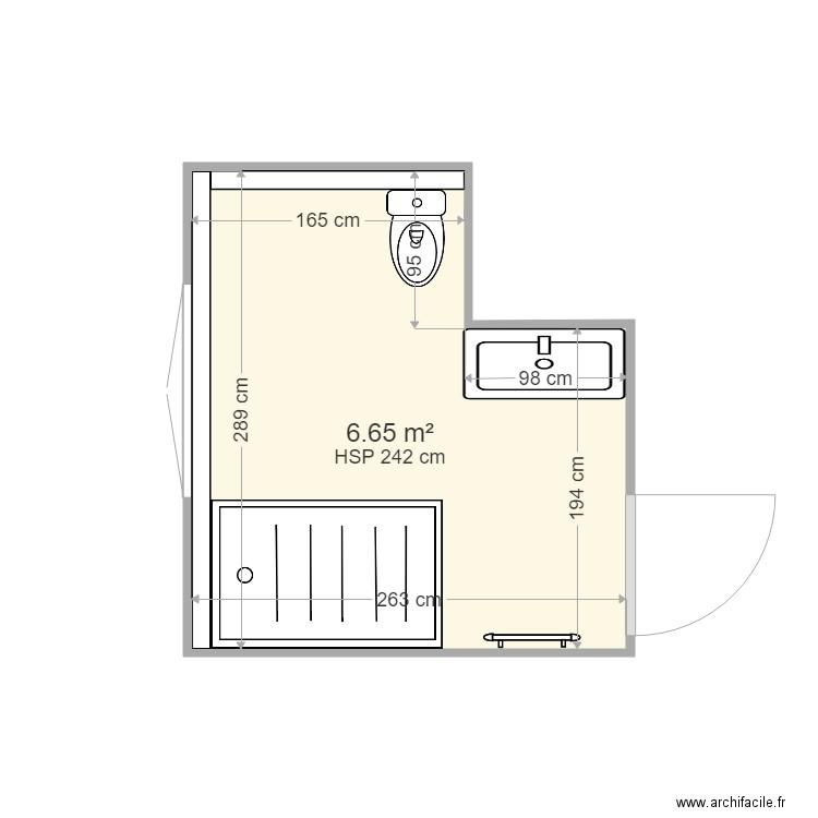 salle de bain v2 plan 1 pi ce 7 m2 dessin par c0olj. Black Bedroom Furniture Sets. Home Design Ideas