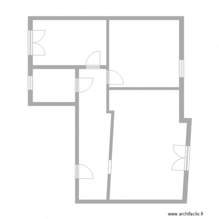 kugler strasbourg plan 5 pi ces 67 m2 dessin par lcd 67. Black Bedroom Furniture Sets. Home Design Ideas