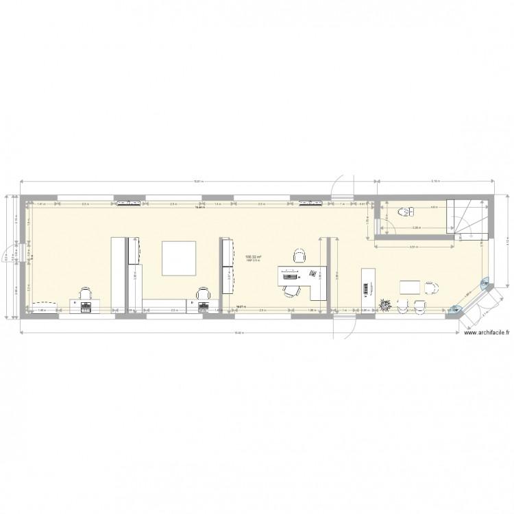 Caussade plan 1 pi ce 100 m2 dessin par nicklolo for Plan caussade