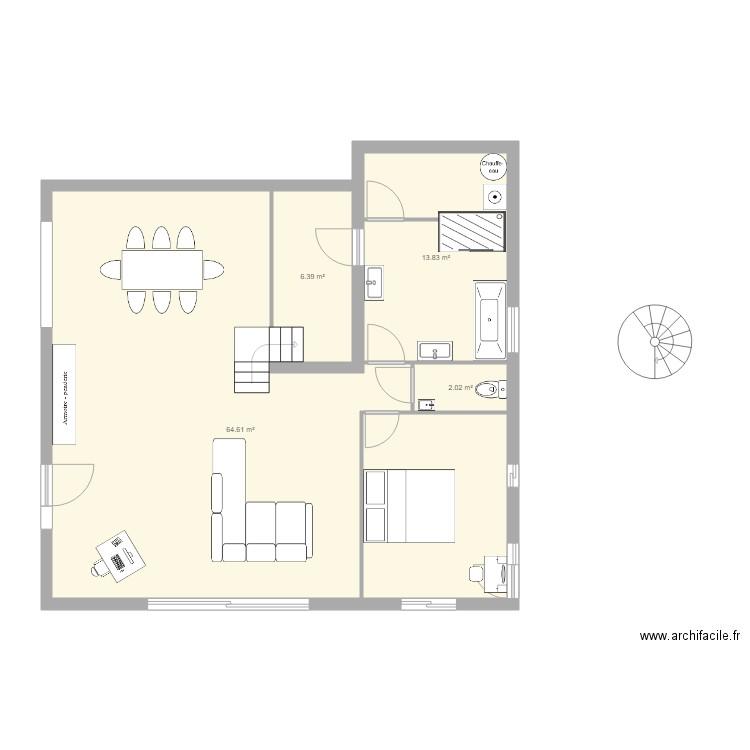 Nouvelle disposition plan 5 pi ces 87 m2 dessin par for Nouvelles dispositions de maison
