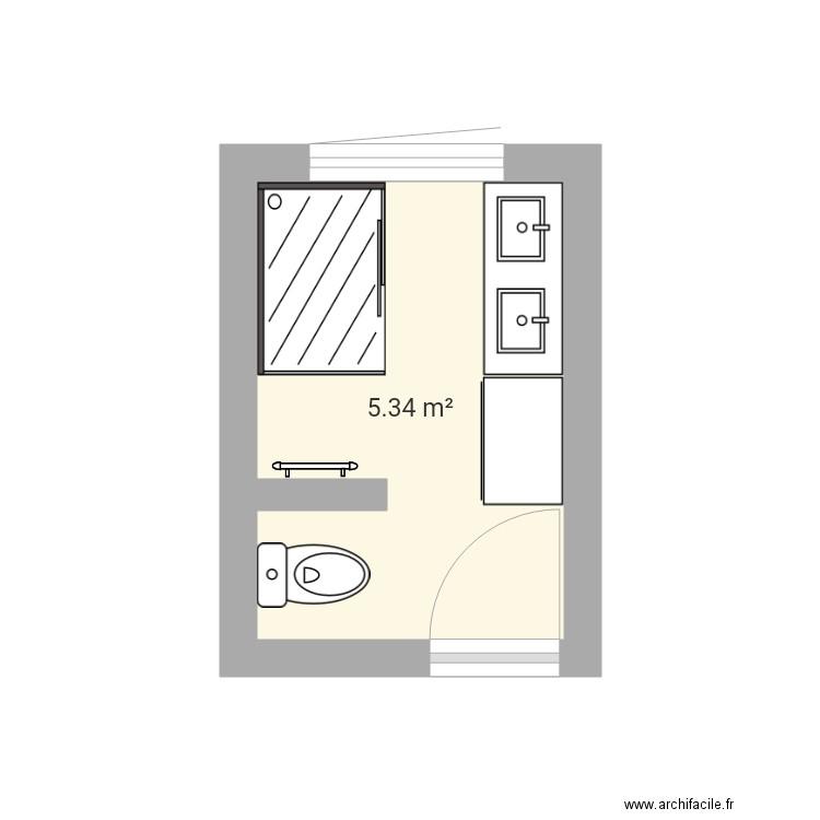 salle de bain plan 1 pi ce 5 m2 dessin par flochouchou. Black Bedroom Furniture Sets. Home Design Ideas