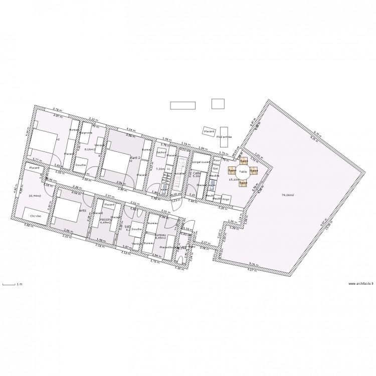 Plain pied 3 chambres salle de jeux buanderie cellier et bureau sur sous s - Plan buanderie cellier ...