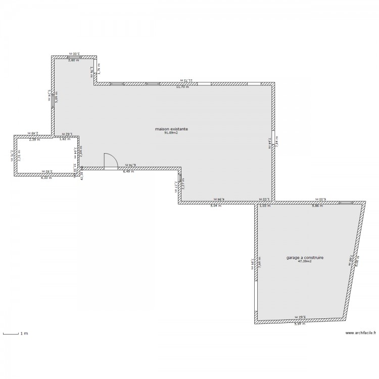 permis de construire garage plan 2 pi ces 139 m2 dessin par 3gamins. Black Bedroom Furniture Sets. Home Design Ideas
