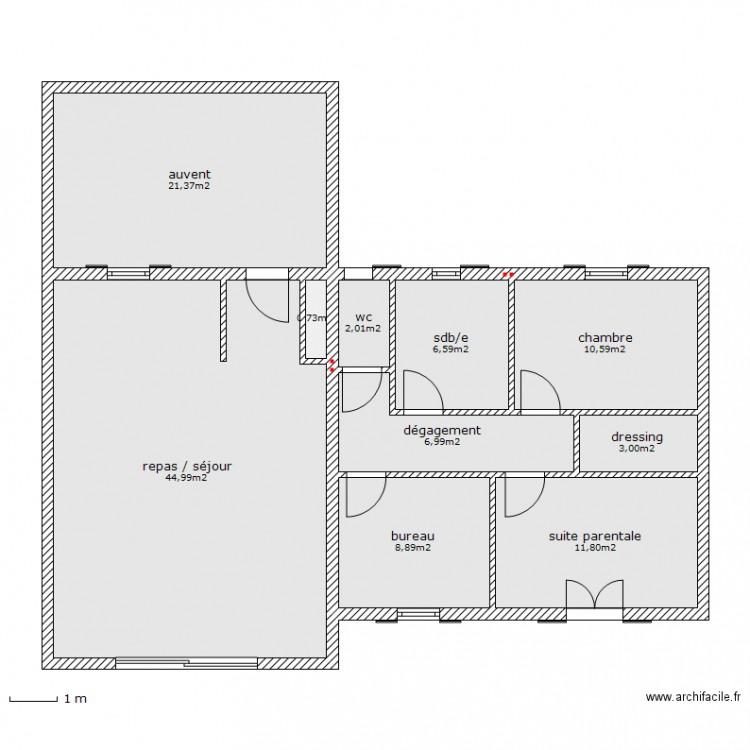 saint vivien plan 10 pi ces 117 m2 dessin par solis. Black Bedroom Furniture Sets. Home Design Ideas