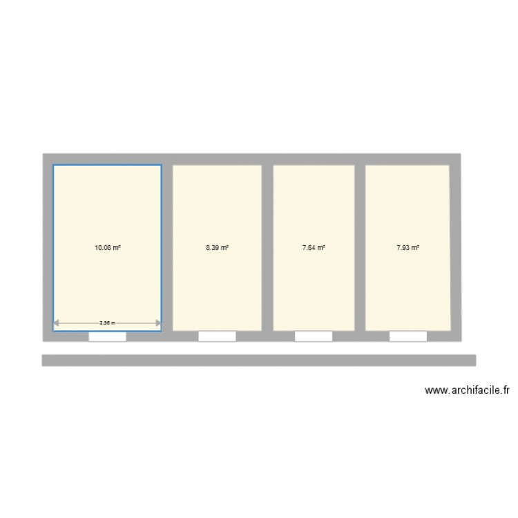 Plan de ma maison plan 4 pi ces 34 m2 dessin par liban125 for Dessine ma maison gratuitement
