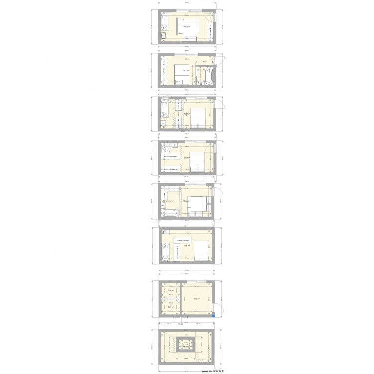 suite parentale 13m2 plan 11 pi ces 107 m2 dessin par chopardp. Black Bedroom Furniture Sets. Home Design Ideas