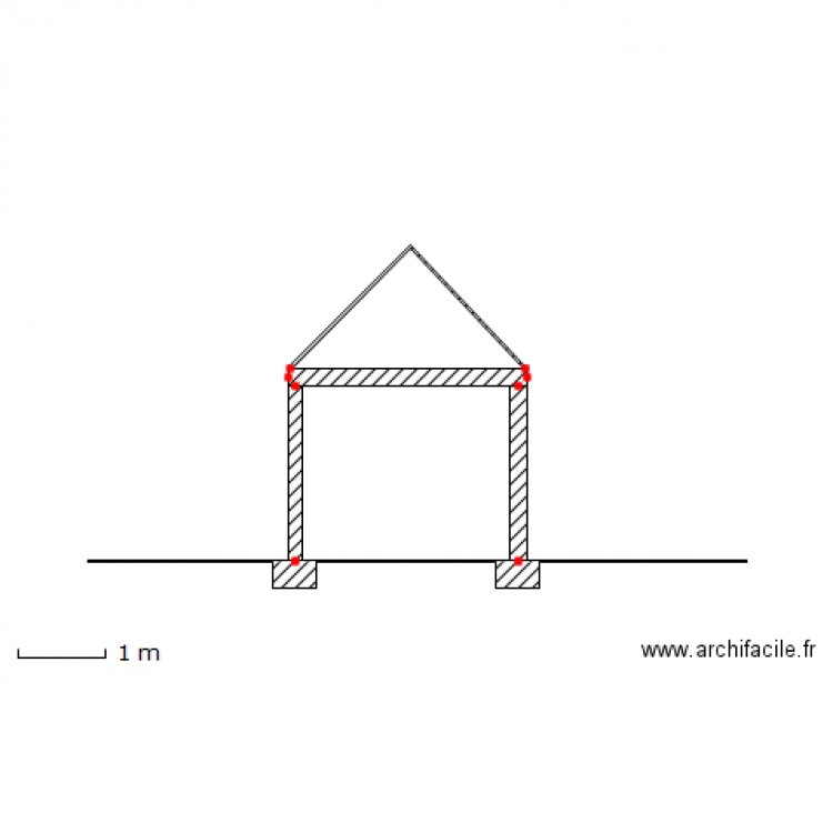 Plan de coupe garage terrain plan dessin par pierrot25 for Garage et permis de construire