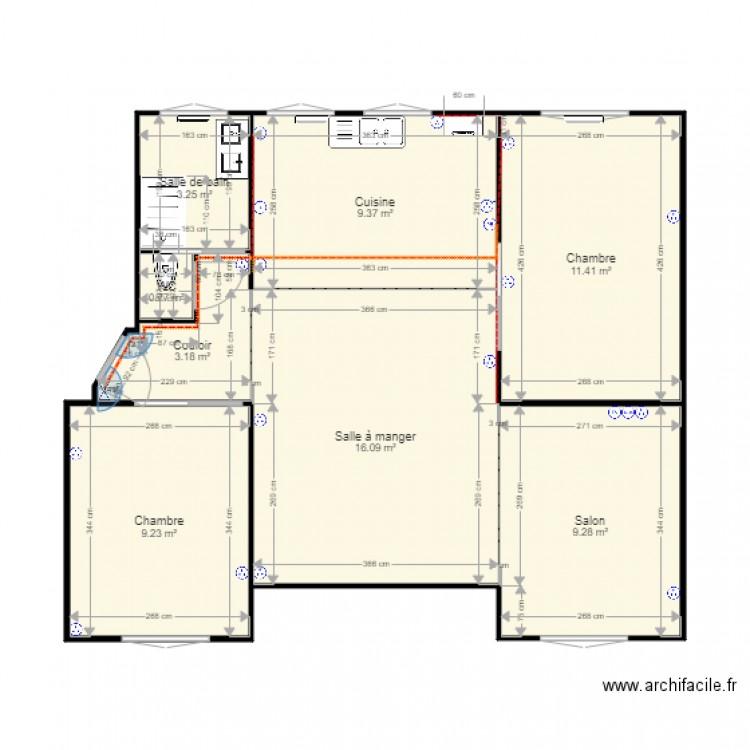 plan appartement 160 m2