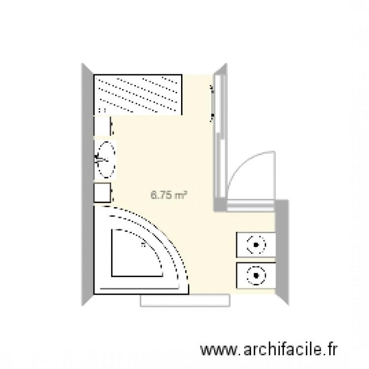 Salle de bain plan 1 pi ce 7 m2 dessin par antoinechloe - Salle de bain 7 m2 ...