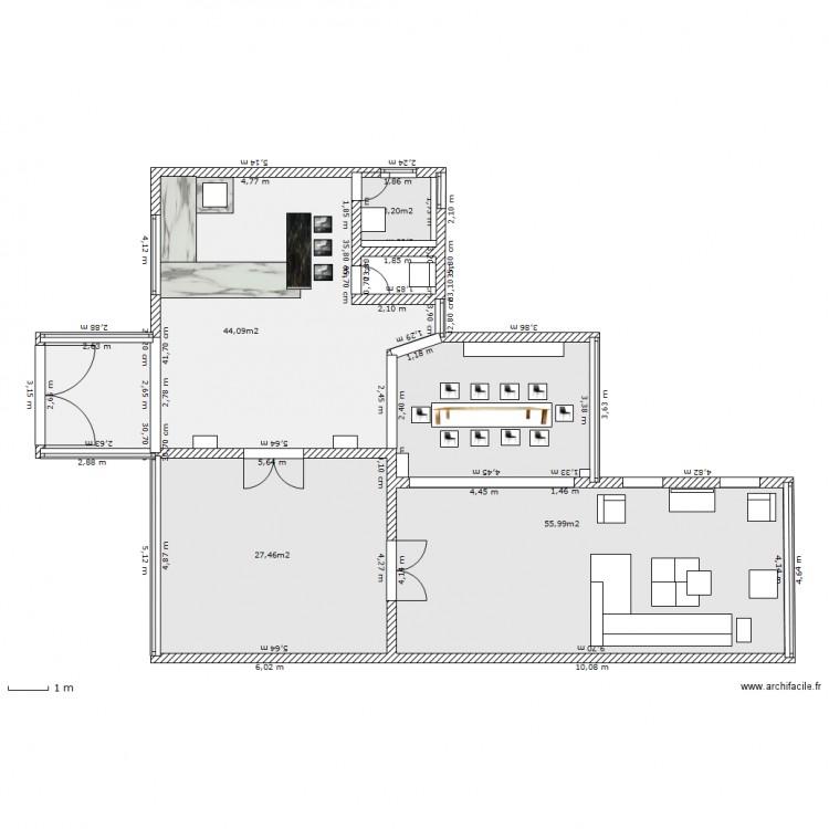 Maison basique moderne plan 4 pi ces 131 m2 dessin par for Maison moderne electricite