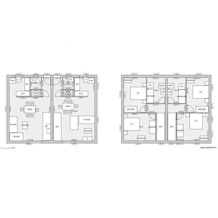 Duplex f3 f3 plan 14 pi ces 162 m2 dessin par guizmo60 for 162 plan