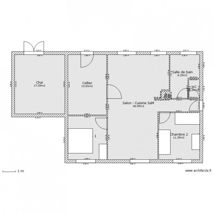 Maison sims r nov e plan 8 pi ces 97 m2 dessin par sims54 for Taille moyenne maison