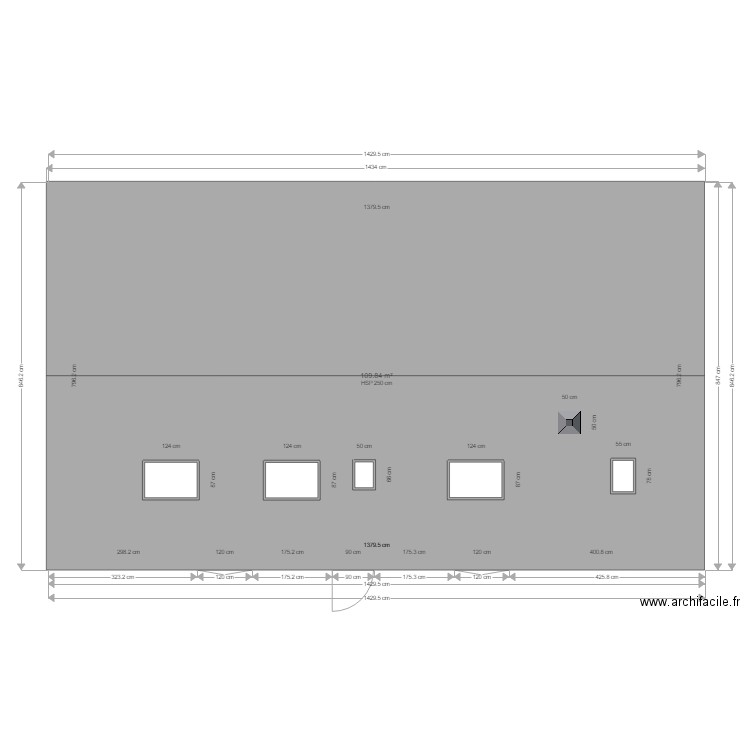 plan maison st avertin facade plan 1 pi ce 110 m2 dessin par rage78. Black Bedroom Furniture Sets. Home Design Ideas