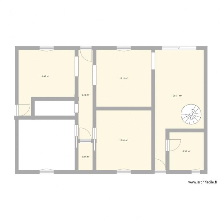 Maison plan 7 pi ces 80 m2 dessin par nas44 for Taille moyenne maison