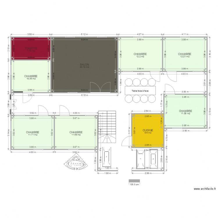Ma maison ibra plan 9 pi ces 116 m2 dessin par thiathio for Dessine ma maison gratuitement