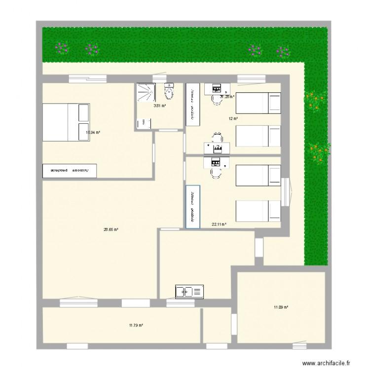 Ma maison plan 8 pi ces 144 m2 dessin par saifounrades for Dessine ma maison gratuitement