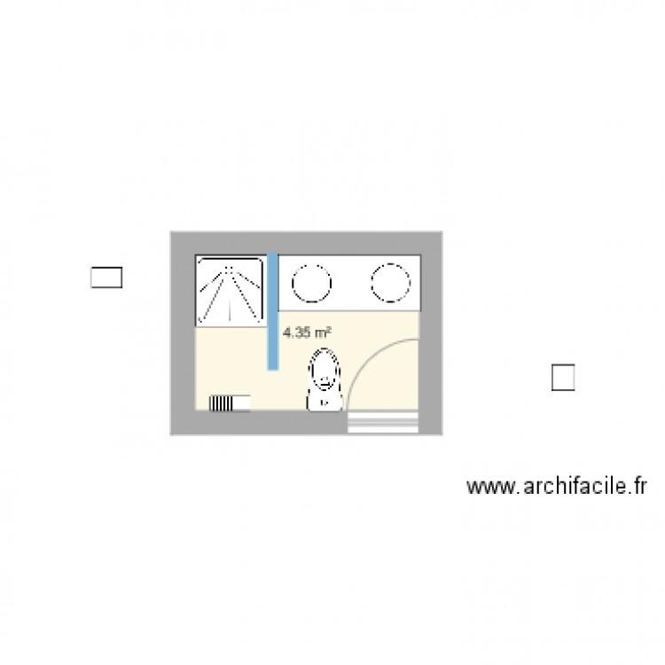 Salle de bain plan 1 pi ce 4 m2 dessin par jamby89 for Salle de bain 4 m2