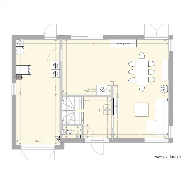 Ma maison plan 1 pi ce 82 m2 dessin par didier82 for Dessine ma maison gratuitement