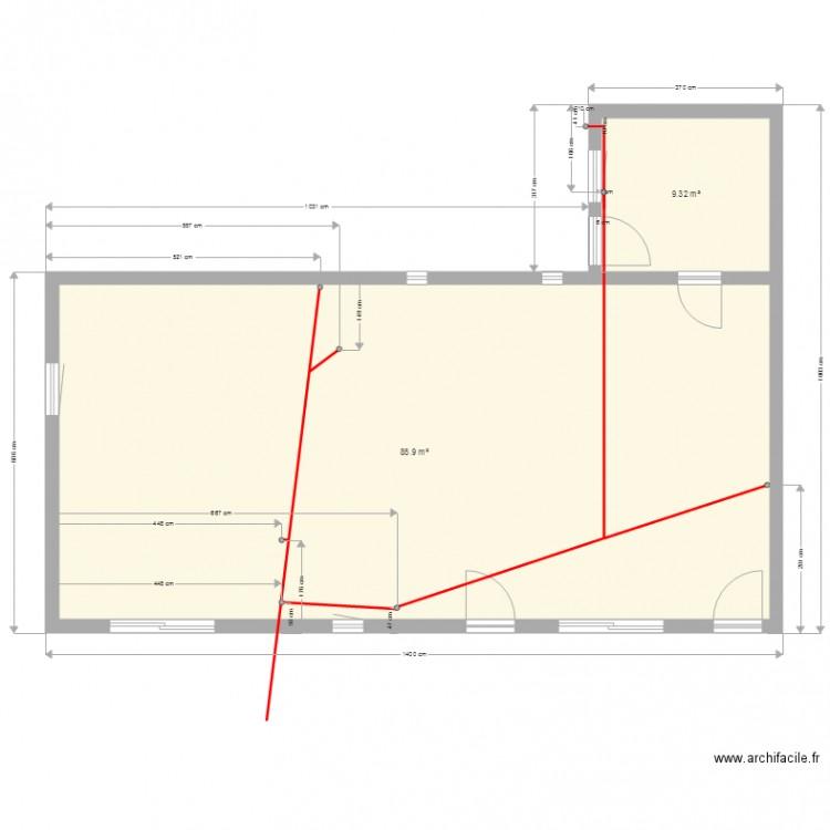 Plan de plomberie plan 2 pi ces 95 m2 dessin par - Construire un plan de travail ...