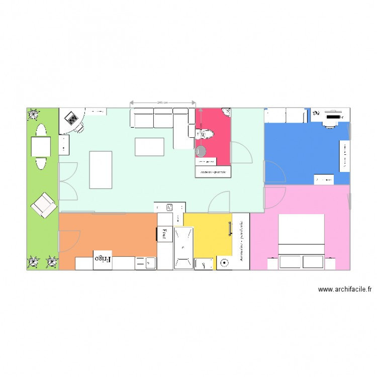 appartement nanterre plan 9 pi ces 73 m2 dessin par sariita78. Black Bedroom Furniture Sets. Home Design Ideas