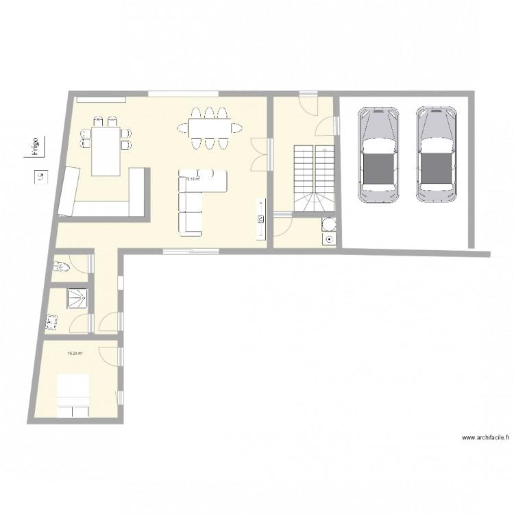 Maison plan 2 pi ces 91 m2 dessin par noemieetmatthias03 - Plan de maison 2 pieces ...