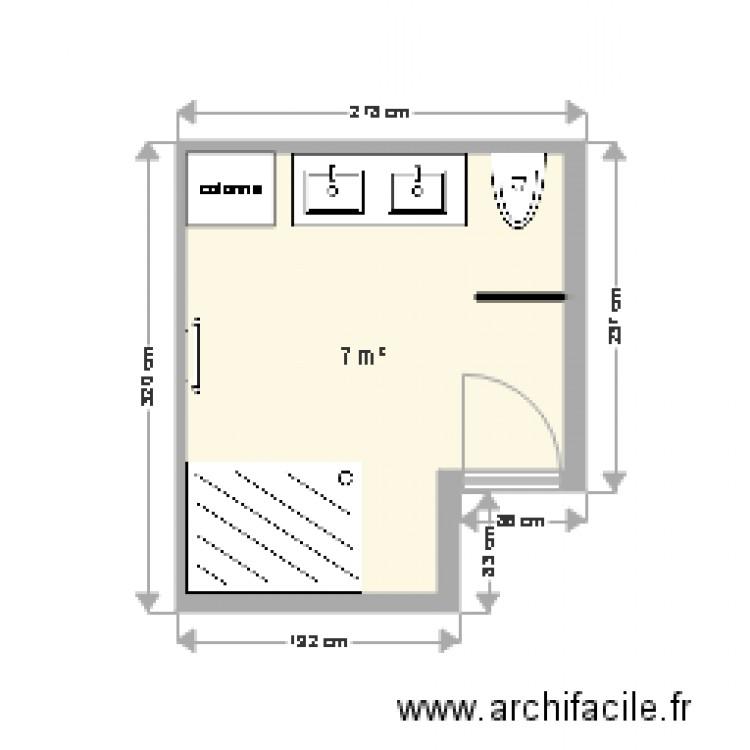 sdb plan 1 pi ce 7 m2 dessin par misterping. Black Bedroom Furniture Sets. Home Design Ideas
