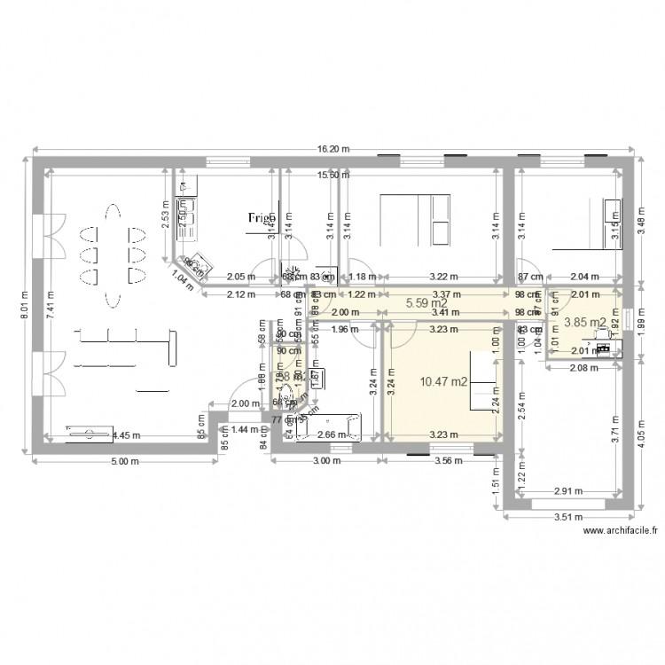maison 2 plan 4 pi ces 21 m2 dessin par yannouyone. Black Bedroom Furniture Sets. Home Design Ideas