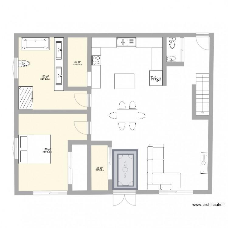 maison container 40 pied - Plan 4 pièces 37 m2 dessiné par dany_d_d_d09