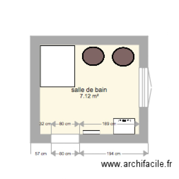 salle de bain plan 1 pi ce 7 m2 dessin par bobinfr. Black Bedroom Furniture Sets. Home Design Ideas