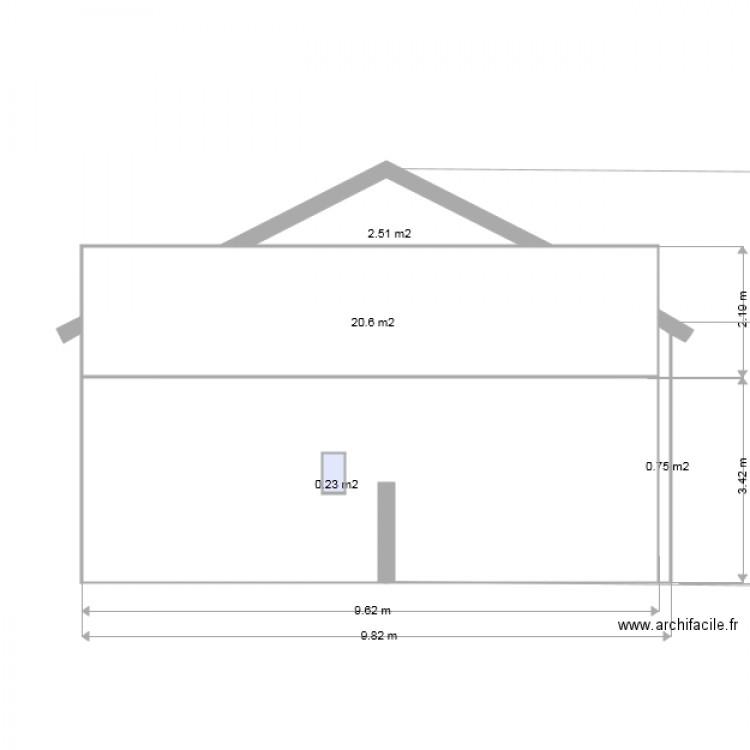 dp4 plan des facades et des toitures 03 plan 4 pi ces 24 m2 dessin par schillackcyril. Black Bedroom Furniture Sets. Home Design Ideas