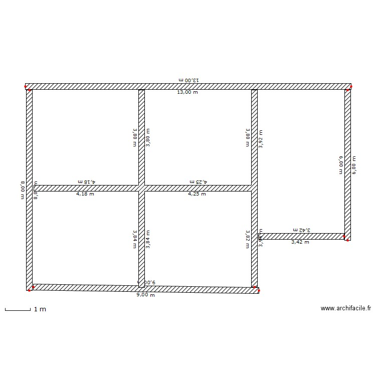 Fondation maison plan dessin par juka for Prix fondation maison m2