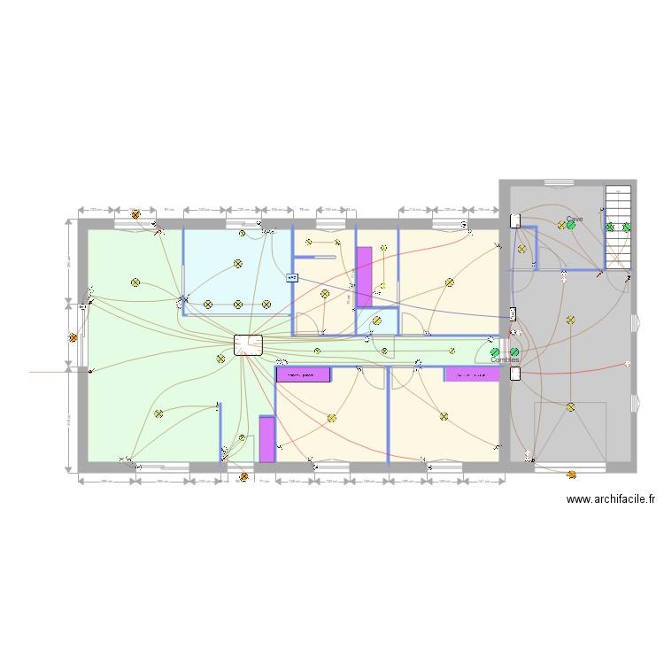 Maison ind i clairage 2 plan 12 pi ces 141 m2 dessin par thdejean - Consommation electrique moyenne maison 140 m2 ...