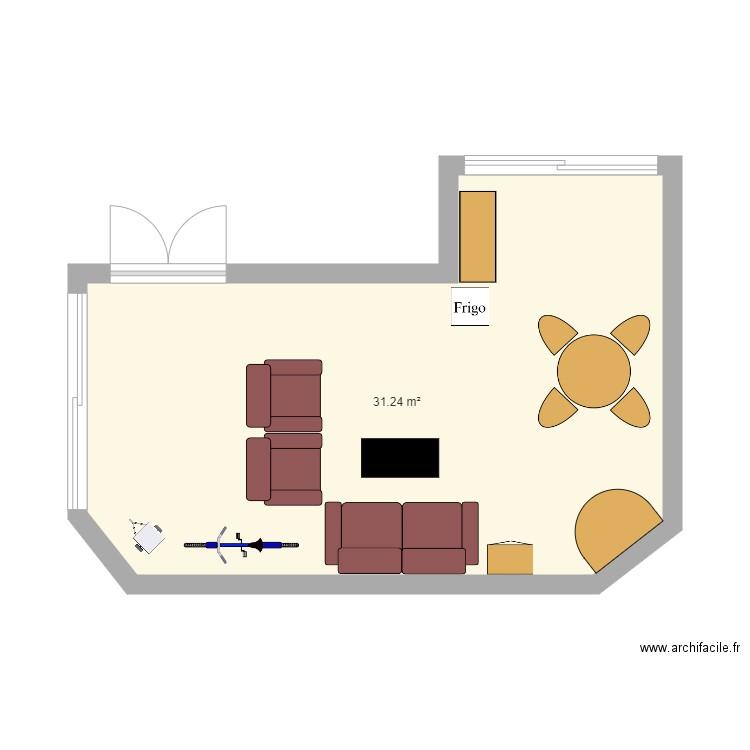 Veranda - Plan 1 pièce 31 m2 dessiné par vickypugin