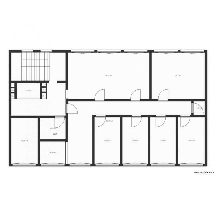 plan 2d plan 18 pi ces 200 m2 dessin par max. Black Bedroom Furniture Sets. Home Design Ideas