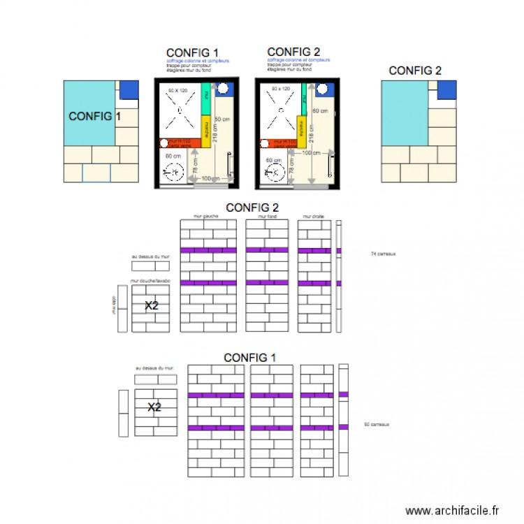 Salle de bain plan 2 pi ces 7 m2 dessin par clearomeo for Salle de bain 2 m2