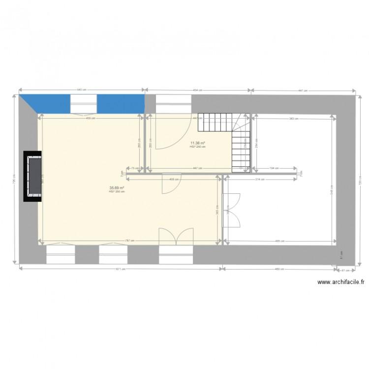 Back up maison campagne plan 2 pi ces 47 m2 dessin par for Garage plan de campagne