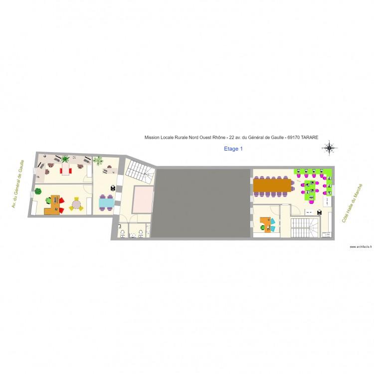 Notaire 2017 04 04 meubl plan 24 pi ces 435 m2 dessin for Bureau 90x50