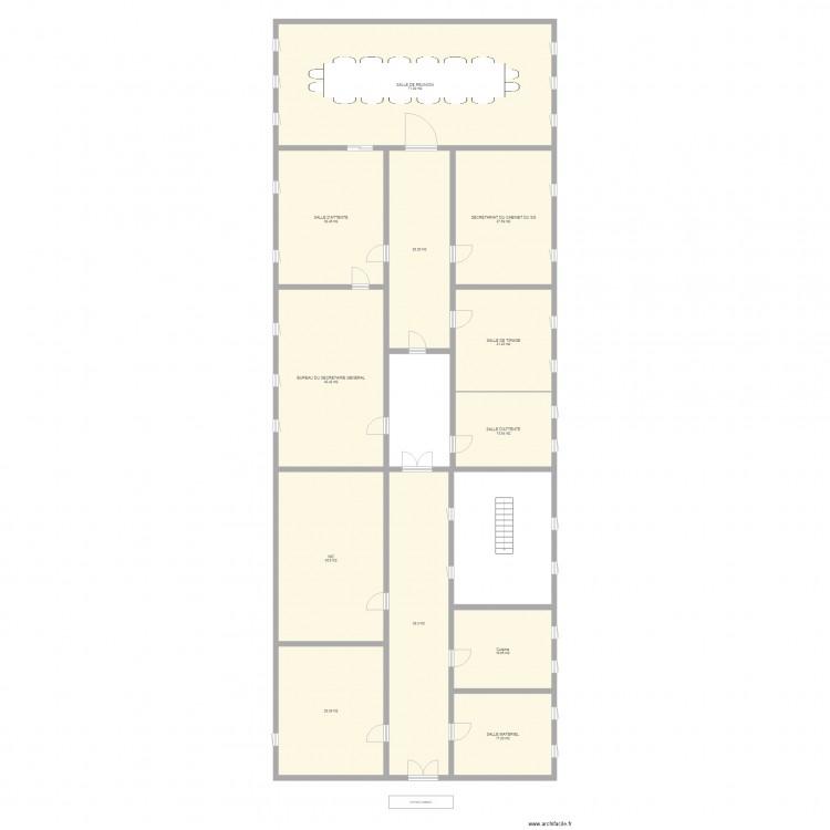 Bureau cabinat plan 12 pi ces 375 m2 dessin par meng for Bureau petite taille