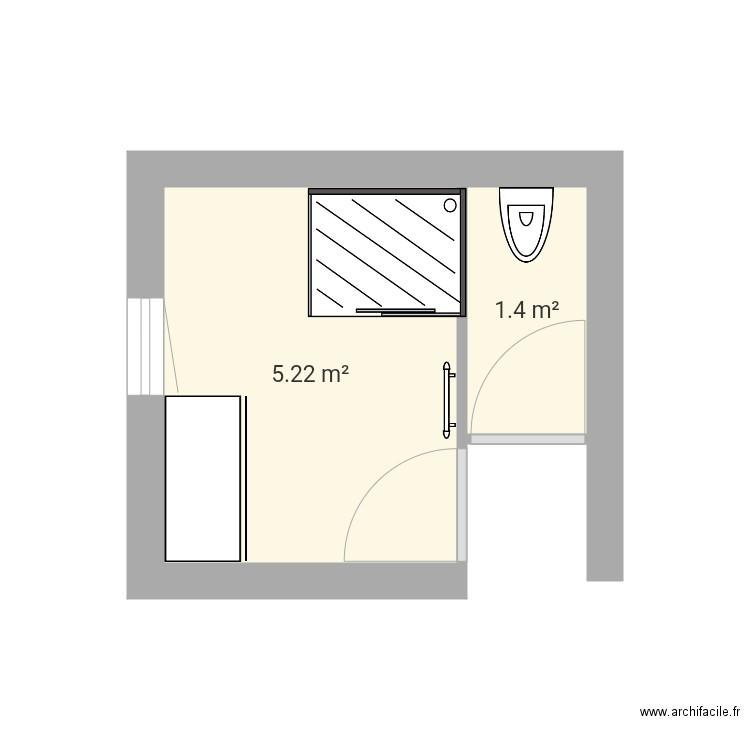 salle de bain bas 2 plan 2 pi ces 7 m2 dessin par nounou. Black Bedroom Furniture Sets. Home Design Ideas