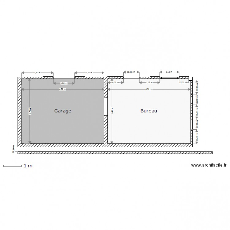 Abri de jardin plan 2 pi ces 35 m2 dessin par gieller - Abri jardin grande taille ...
