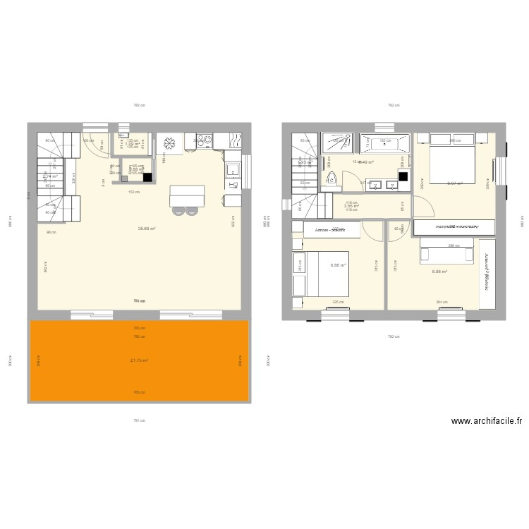 maison restanque plan 11 pi ces 108 m2 dessin par david83500. Black Bedroom Furniture Sets. Home Design Ideas