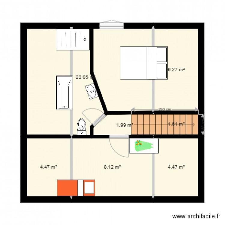 Maison apres plan 7 pi ces 47 m2 dessin par auroremalard - Consommation electrique moyenne maison 140 m2 ...