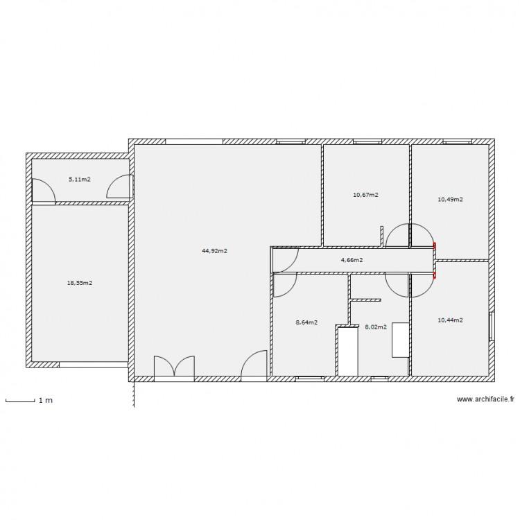 plan de maison échelle