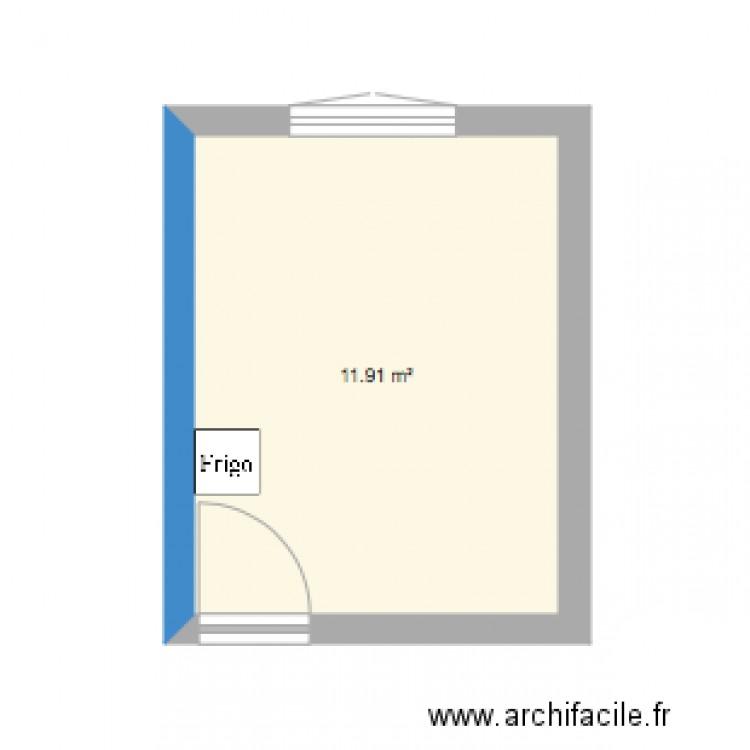 Chambre plan 1 pi ce 12 m2 dessin par lerincecile for Chambre one piece